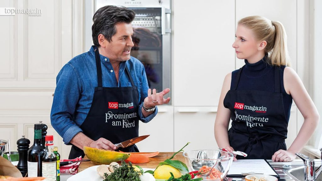 Thomas Anders mit Top Magazin-Redakteurin Johanna Müdicken