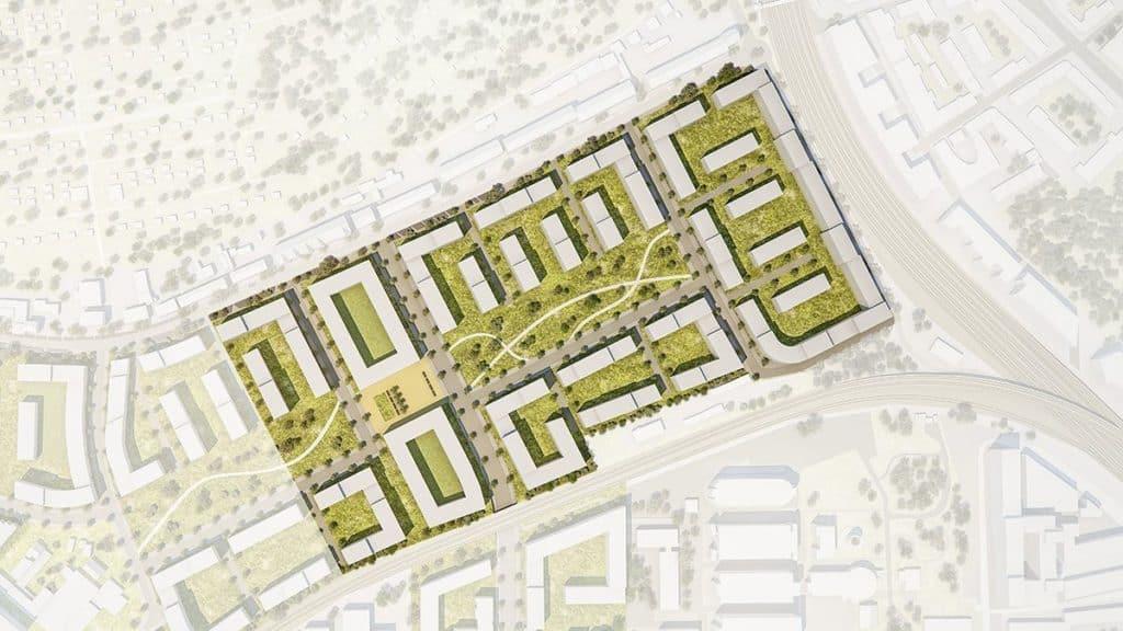 Das geplante Schönhof-Viertel in Bockenheim