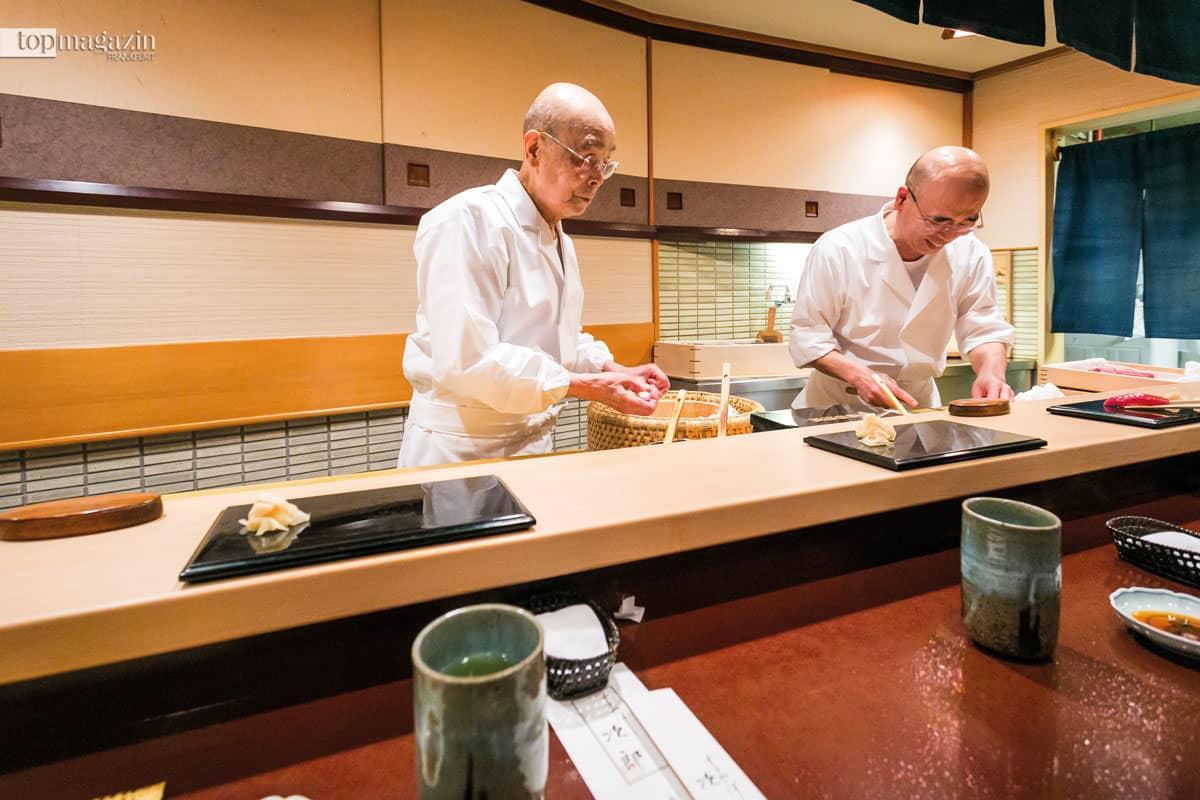 Jiro Ono und sein Sohn Yoshika, Sukiyabashi Jiro Tokyo