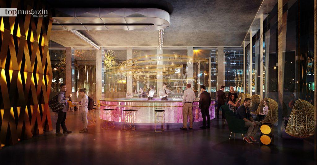 Sky-Bar mit 360 Grad Rundumblick über Frankfurt