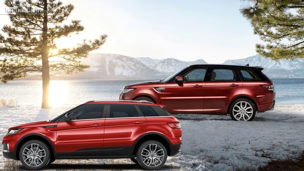 Oben: Der Range Rover Evoque von Jaguar Land Rover. Unten: Der Landwind x7 von Jiangling Motors. Der Wagen kostet nur ein Bruchteil seines Vorbildes.