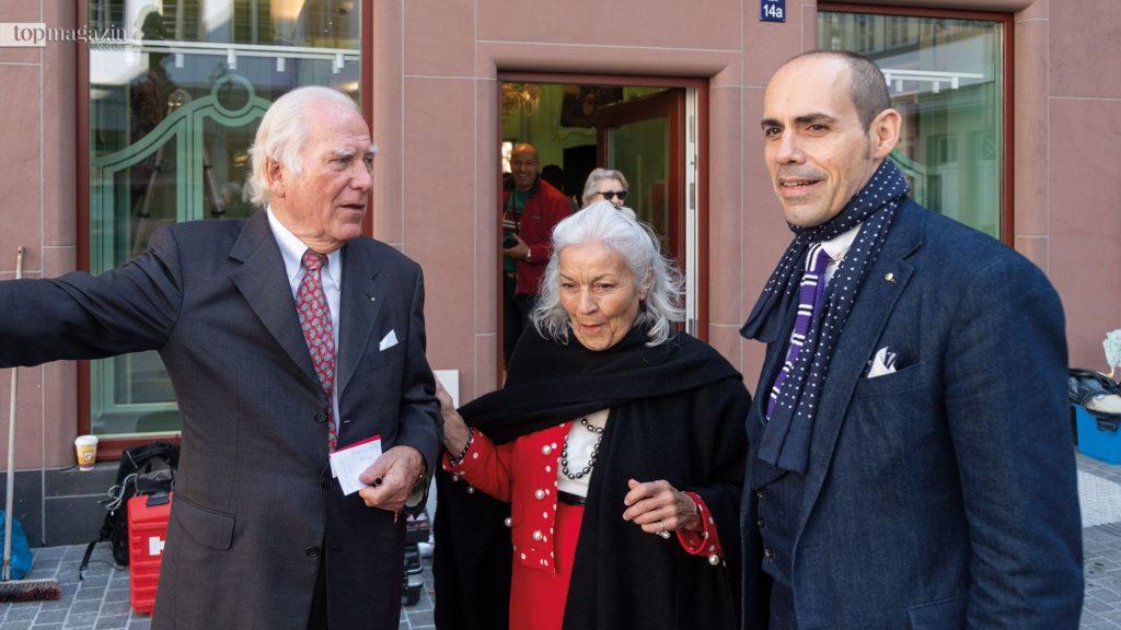 Mäzen Carlo Giersch mit seiner Frau Karin und Juwelier Marc Stabernack