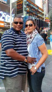 So sah Eugene Mosby noch vor wenigen Monaten aus - das Foto entstand bei einem New York-Aufenthalt mit seiner Frau