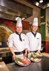 Nur erstklassige Zutaten, die aus aller Welt bezogen werden, finden ihren Weg auf die heißen Stahlplatten im Kabuki