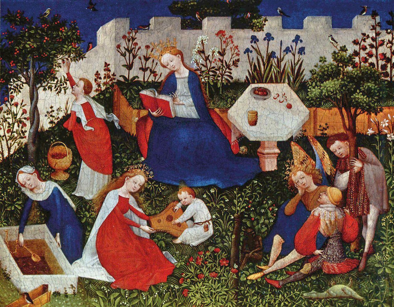 Paradiesgärtlein, Oberrheinischer Meister, ca. 1410 – 1420